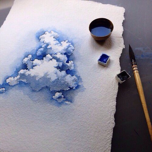 Beautiful Blue Color Paint Pretty Image 4000444 By