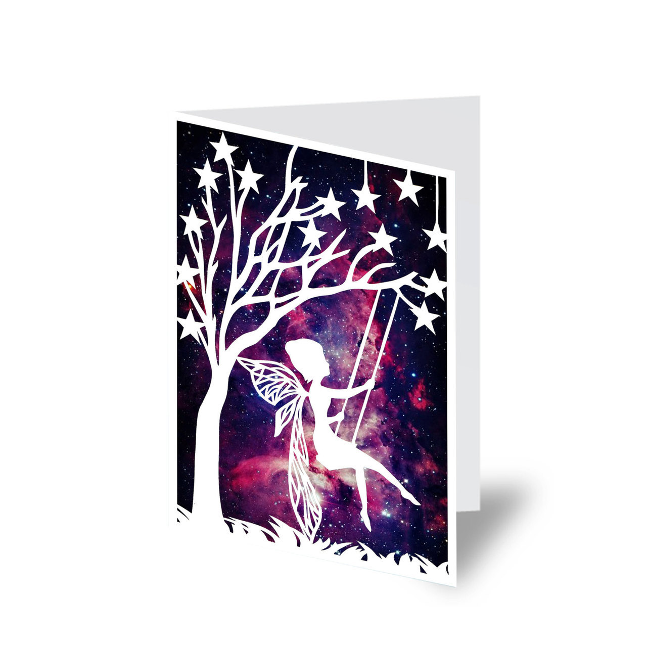 birthday card, etsy, for her and galaxy print