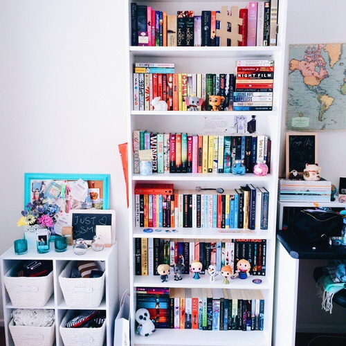 books, decor, desk, room, work