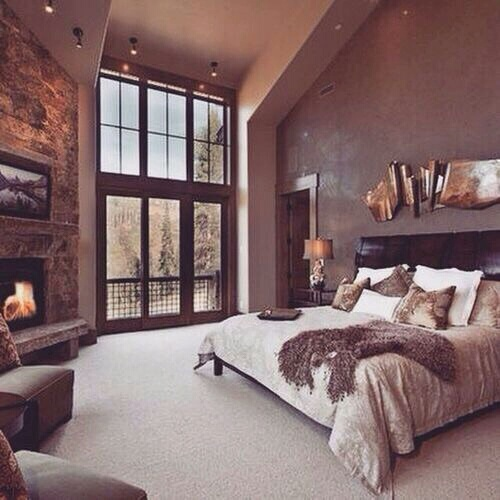 bedroom cute decoration furniture home house room snow winter