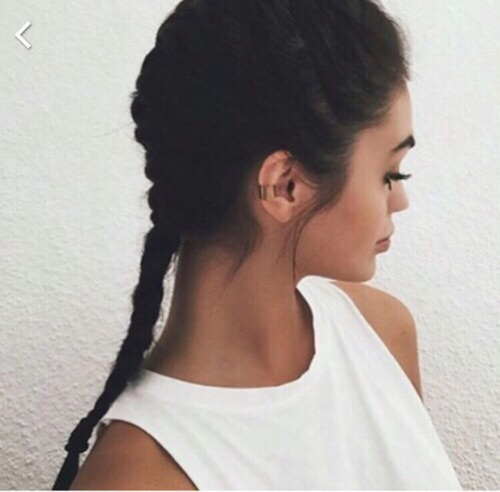 aesthetic, beauty, braids and fashion