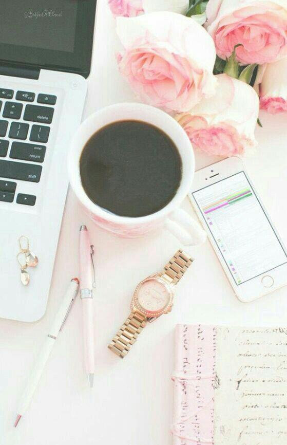 coffee, fashion, girl, girls, laptop, lifestyle, pink, study