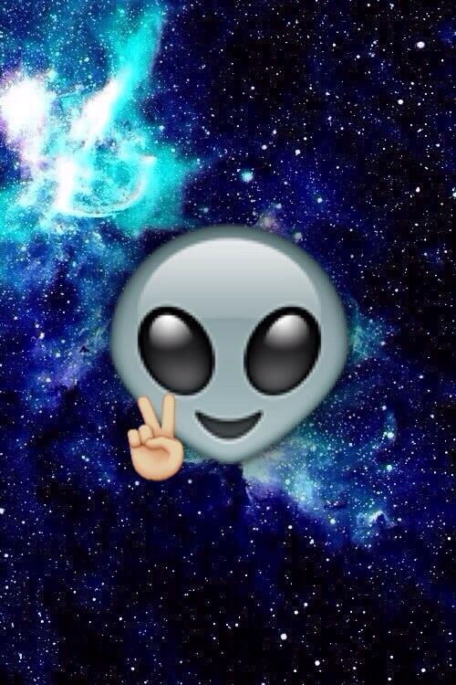 alien, black, blue, emoji, galaxy - image #4089349 by ...