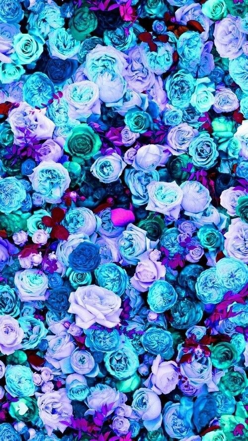 background, blue, flowers, hipster, iphone wallpaper ...
