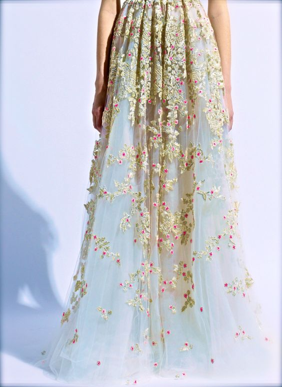 Fashion haute couture embroidery valentino floral