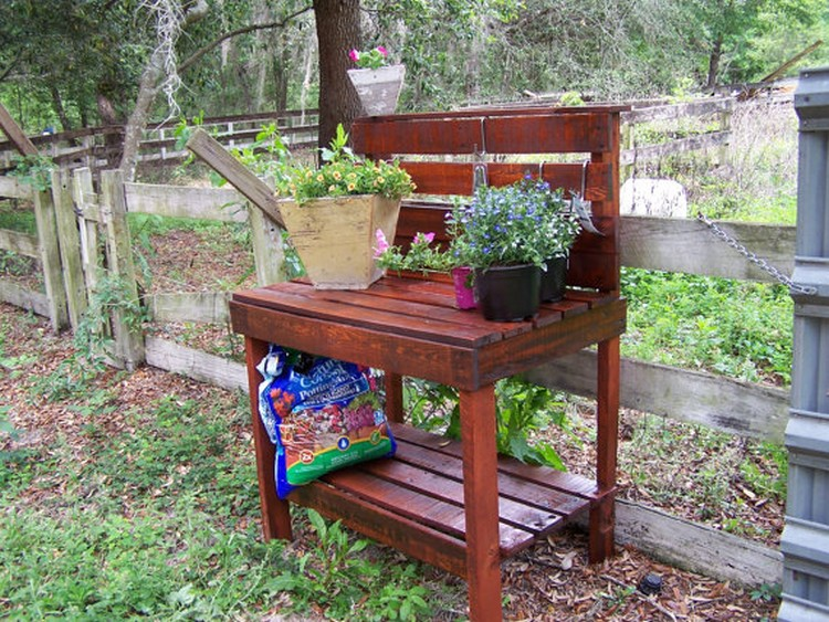 Pleasant Wooden Pallet Bench Plans Image 4381175 By Pabps2019 Chair Design Images Pabps2019Com