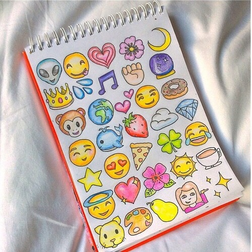 Cool emoji drawings image 4301864 by helena888 on for Girly tumblr drawings