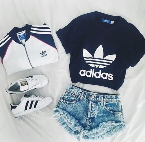 adidas clothes fashion look image 4320399 by
