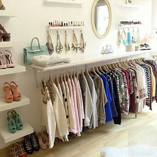closet, clothes, cute, decor, organisations