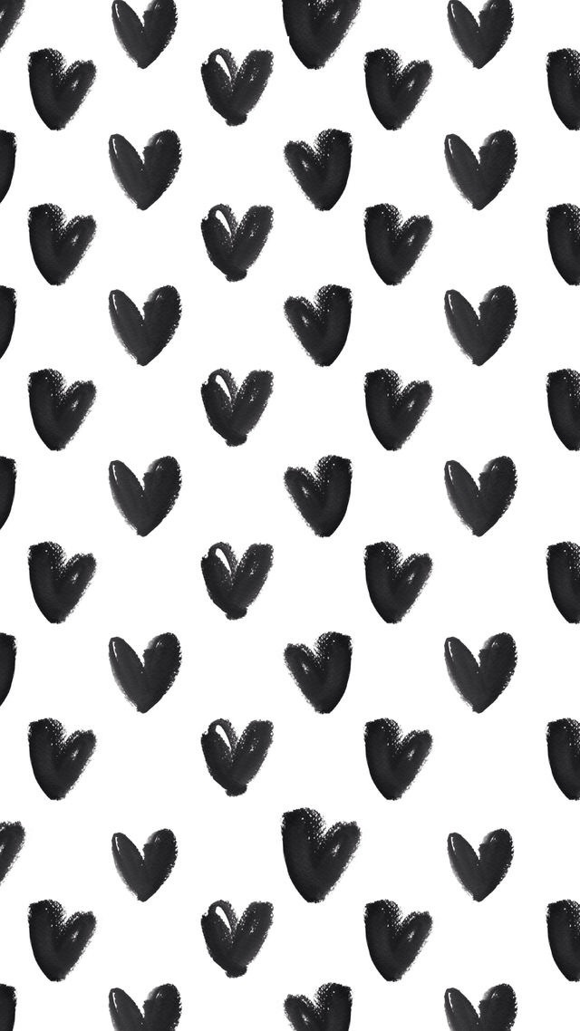 Black And White Heart Phone Background Image 4441229 By