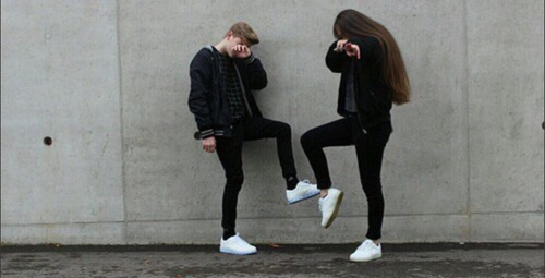 Guy and girl dating aesthetic