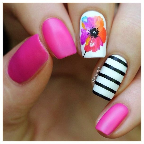 Do it yourself nail art flowers neon flower nail art flowers do it yourself easy flower nail art steps beauty care view images solutioingenieria Image collections