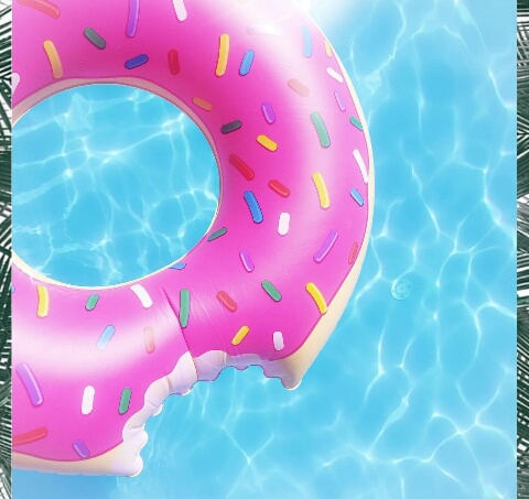 Cute donut ete summer tumblr image 4586484 by for Cute pool pictures
