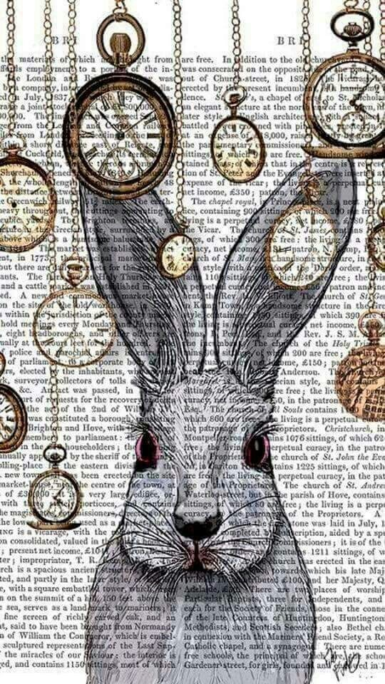 alice in wonderland, rabbit, time