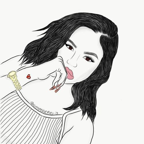 Drawing Girl Outline Outlines Tumblr Girl Image 5125654 By