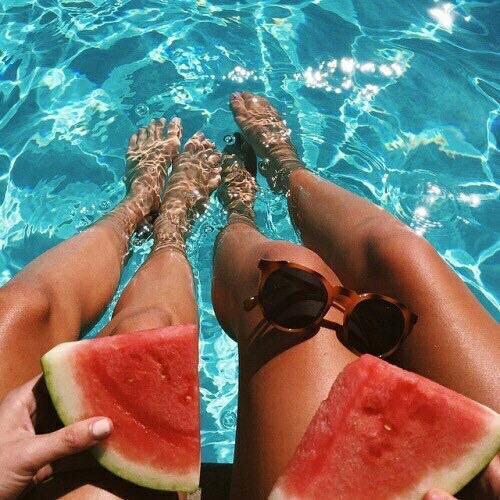 besties, food, fruit, summer